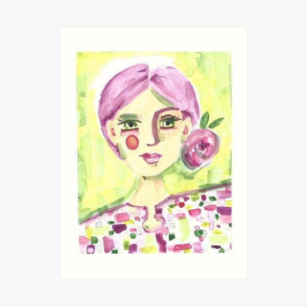 Lavender Lady Art Print