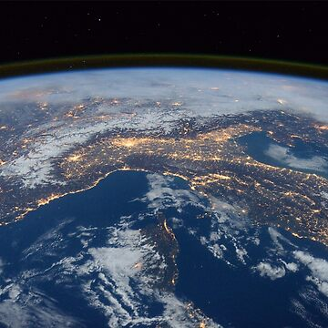 Earth's cities at night by verigud