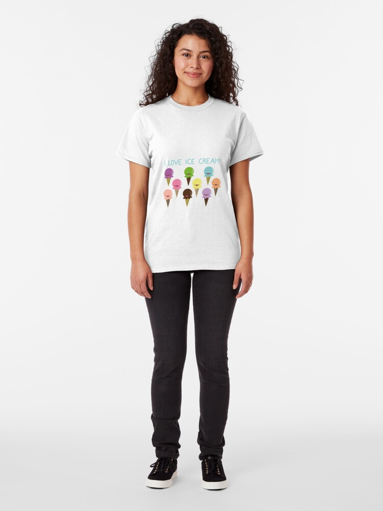 Alternate view of I love Ice Cream Classic T-Shirt