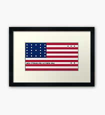 Flag of Bikini Atoll | United States Framed Print