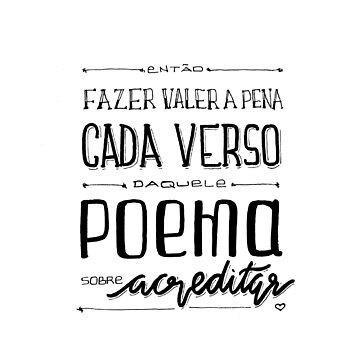 Poema sobre acreditar by myyylla