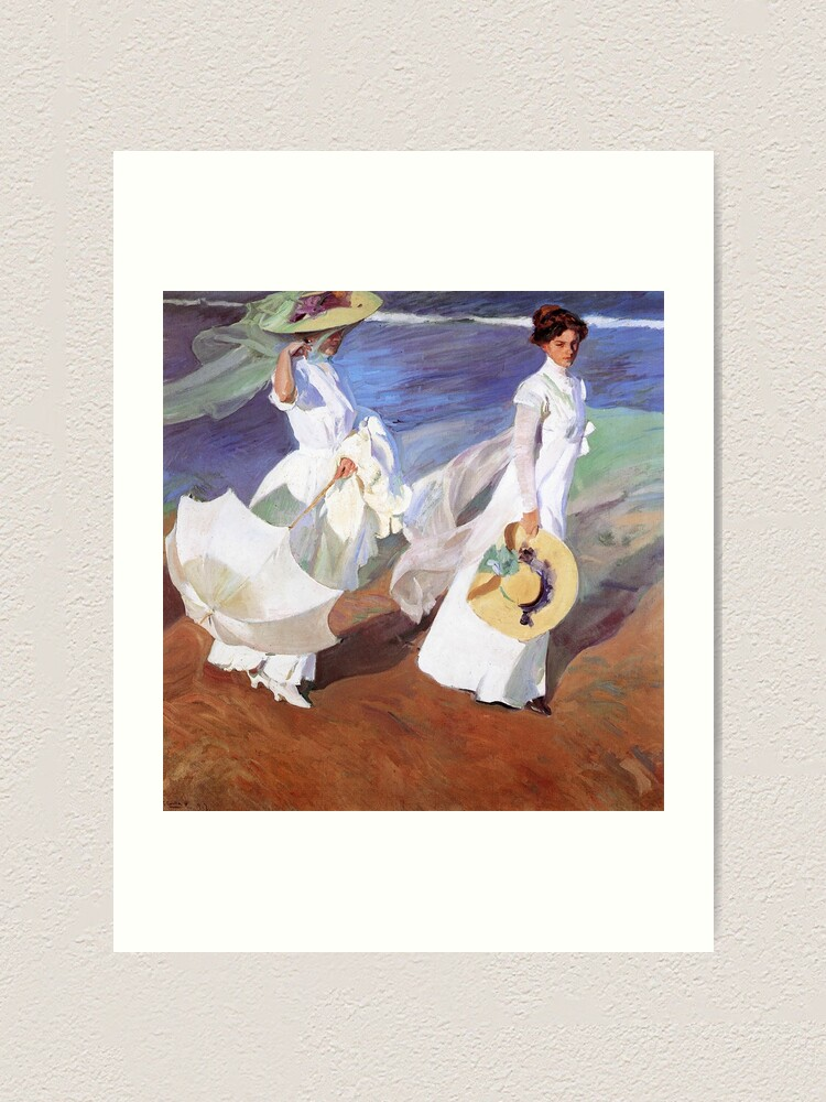 Joaquin Sorolla Women Walking On The Beach Impressionist Painting Art Print By Antiqueart Redbubble
