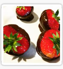 Chocolate dipped strawberries Sticker