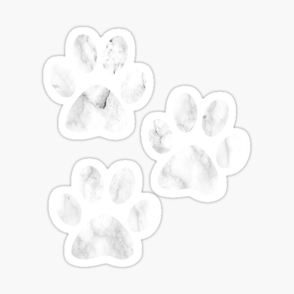 Pfotenabdruck Sticker
