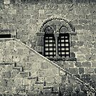 Old Italian window with stairs by Silvia Ganora
