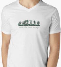 Forest Peak Retreat Logo Men's V-Neck T-Shirt