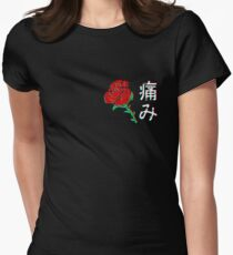 Japanese Aesthetic Rose v4 Women's Fitted T-Shirt