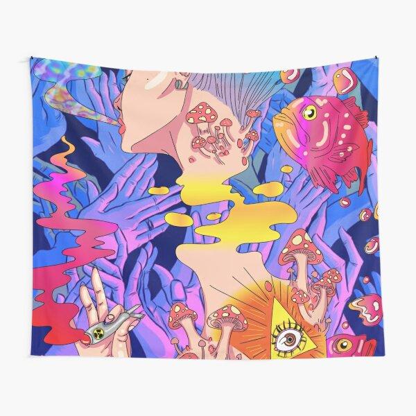 trippy lady Tapestry