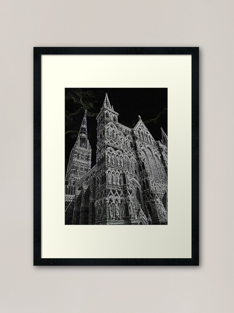 Alternate view of Salisbury Cathedral (MKW-O.39) Framed Art Print