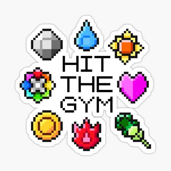 """Insignias de la Liga índigo """"Hit The Gym"""" Pegatina"""