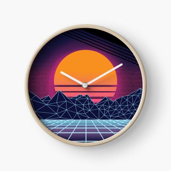 Outrun Sunset Clock