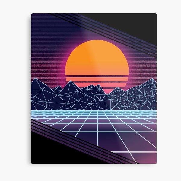 Outrun Sunset Metal Print