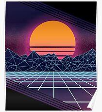 Outrun Sonnenuntergang Poster