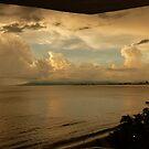 clouds with sunset by Bernhard Matejka