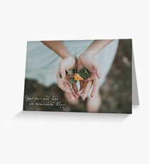 Your pain and loss are remembered today Greeting Card