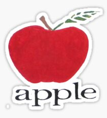 A is for Apple Sticker