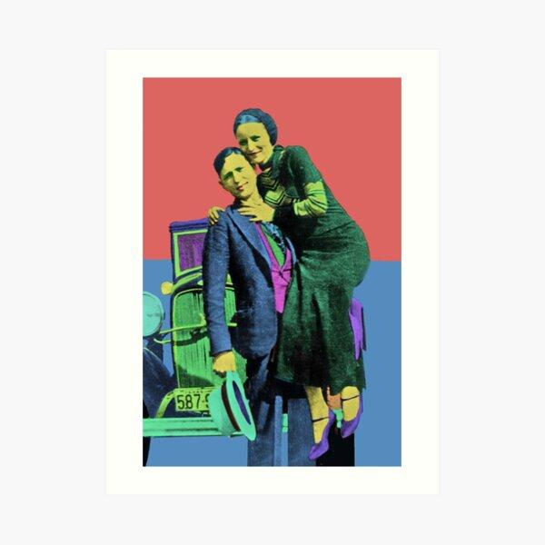 Bonnie and Clyde Pop Art Art Print