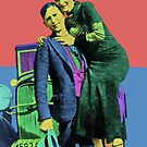 Bonnie and Clyde Pop Art by Icarusismart