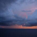 clouds with sunset II by Bernhard Matejka