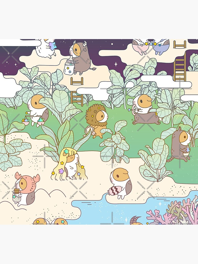 Bubu the Guinea pig Horoscope Land by Miri-Noristudio