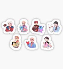 BTS with their BT21 friends!!! Sticker