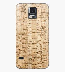 Cork oak pattern Case/Skin for Samsung Galaxy