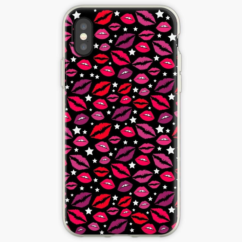 Lippen und Sterne iPhone-Hüllen & Cover