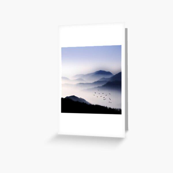 Voler au-dessus du brouillard Carte de vœux