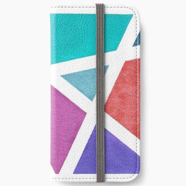 Large Tape Resist Watercolor Painting iPhone Wallet