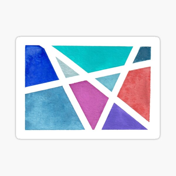 Large Tape Resist Watercolor Painting Sticker