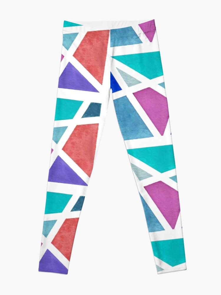 Alternate view of Large Tape Resist Watercolor Painting Leggings