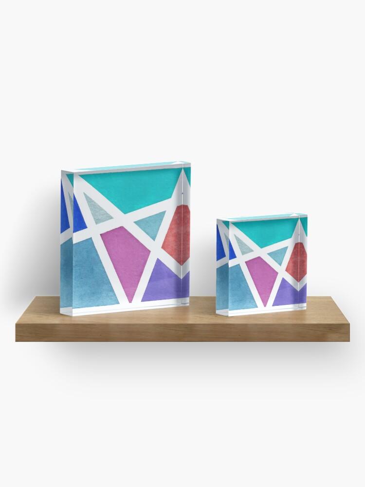 Alternate view of Large Tape Resist Watercolor Painting Acrylic Block