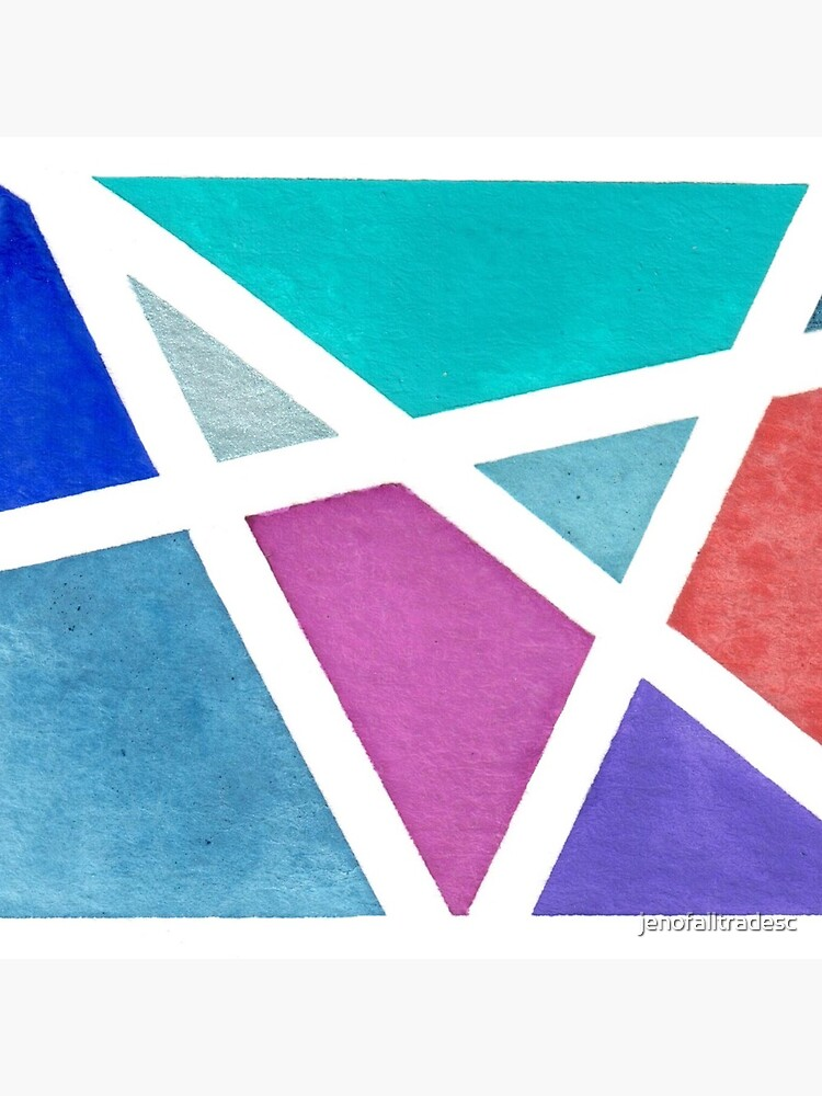 Large Tape Resist Watercolor Painting by jenofalltradesc