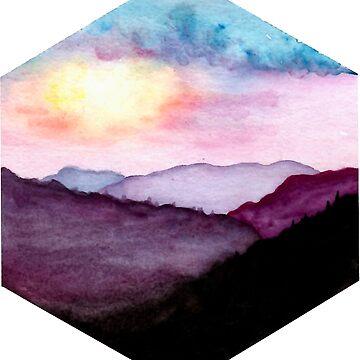 Atardecer en las montañas de aroha93