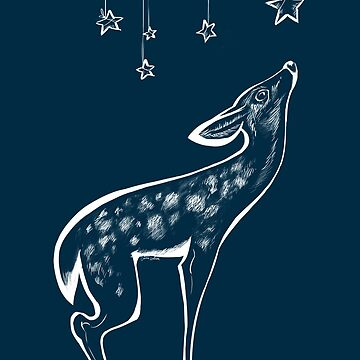 Fawn Stars -white- by carissalapreal