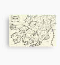Map of Theah Metal Print