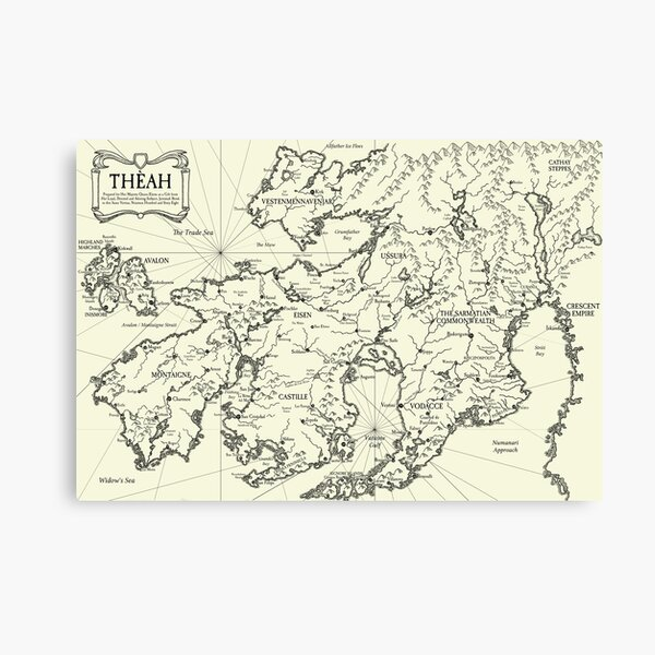 Map of Theah Canvas Print