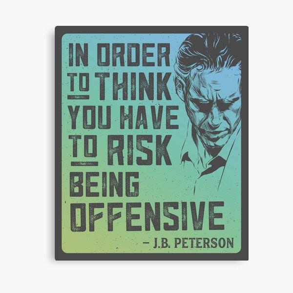 Jordan Peterson Quote in Aqua Blue Canvas Print