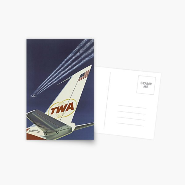 1960's TWA Travel Poster Postcard