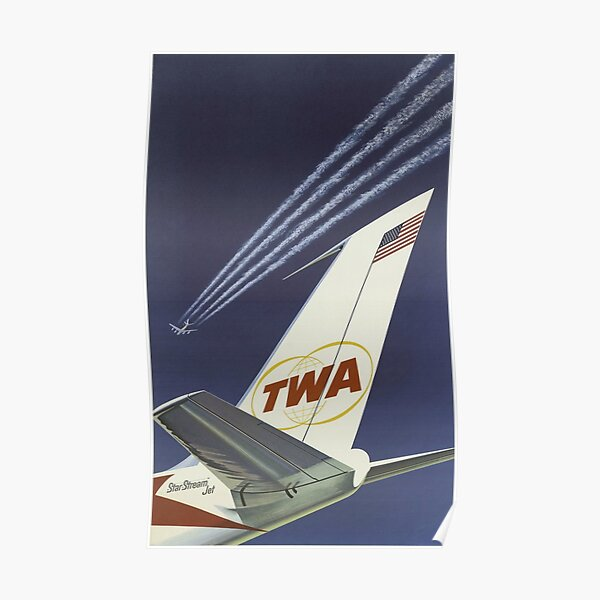 1960's TWA Travel Poster Poster