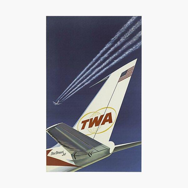 1960's TWA Travel Poster Photographic Print