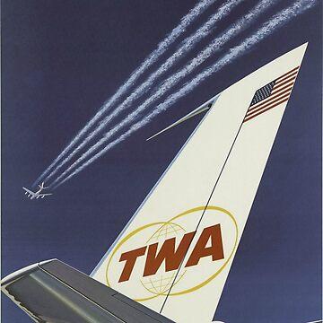1960's TWA Travel Poster by CJAnderson