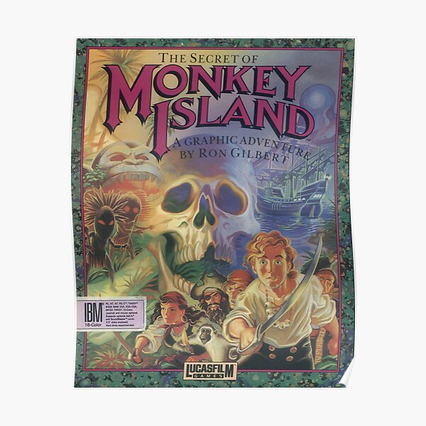 The Secret of Monkey Island Poster