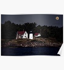 A Lighthouse on the Coast of Maine Poster