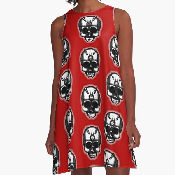 Errorface Skull A-Line Dress