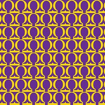 Omega Que Purple Gold Pattern  by AlienatedOpus