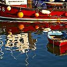 Harbour Reflections ~ Lyme Regis by Susie Peek