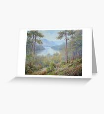 Up from Thirlmere, Cumbria, England Greeting Card