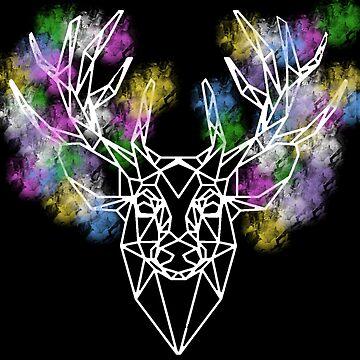 Watercolor deer by Sasya