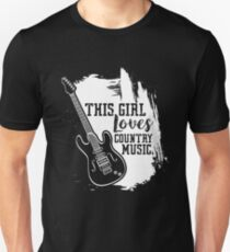 This Girl Loves Country Music Music Genre T Shirt Unisex T-Shirt